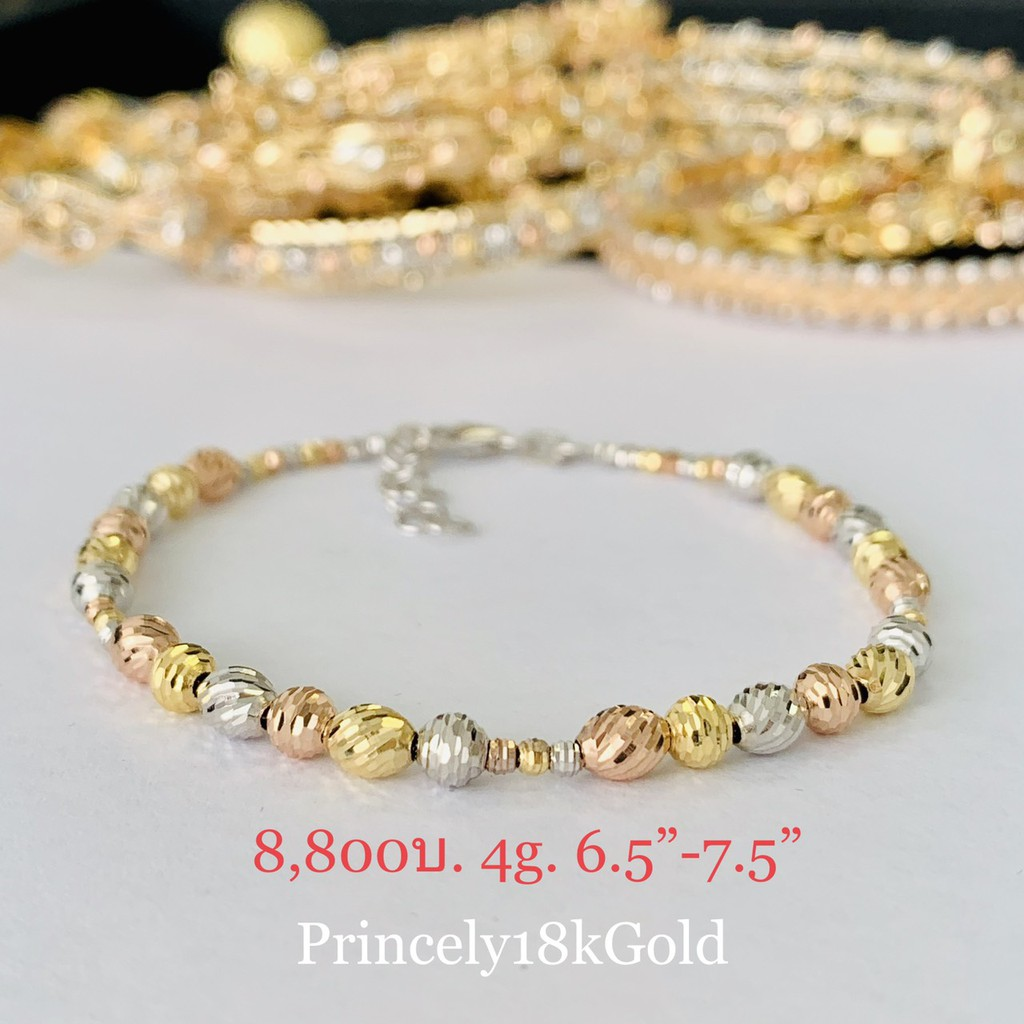 Princely สร้อยข้อมือทองเคแท้ 18K (นำเข้าจากอิตาลี)