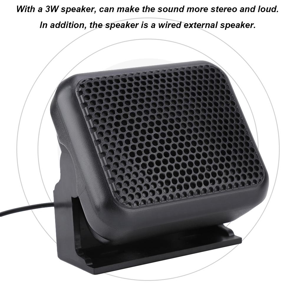 NSP-100 External Speaker 3.5mm Plug For Yaesu Kenwood ICOM Motorola Ham Radio
