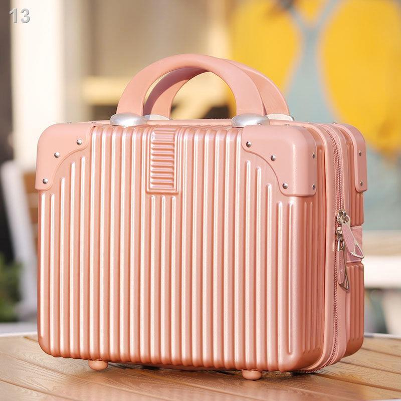 ✠♛﹍กระเป๋าเดินทางมินิย้อนยุคกล่องเครื่องสำอาง 14 นิ้วแต่งงานสินสอดกระเป๋าเดินทางกระเป๋าเครื่องสำอางกระเป๋าเดินทางหญิง