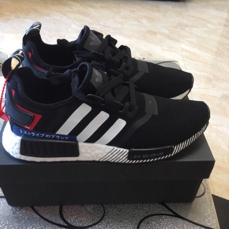 Adidas Nmd R 1 Japan Limited รองเท้าผ้าใบลําลองสีด ําสีขาวสีแดง