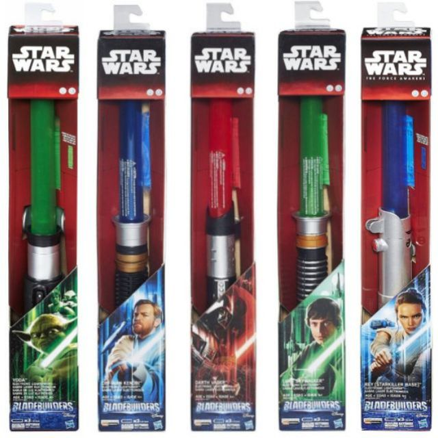 Star Wars Bladebuilders Darth Vader Luke Skywalker Obi Wan Yoda Jedi Rey Mace Windu Electronic Lightsaber Bladebuilder Shopee Thailand