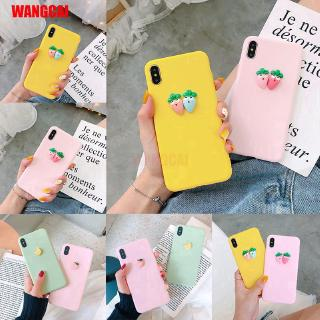 Samsung Galaxy A20S A10S A50 A30S A50S Phone Case 3D Fruit Summer Radish Banana Peach Cute Fresh TPU Soft Cover