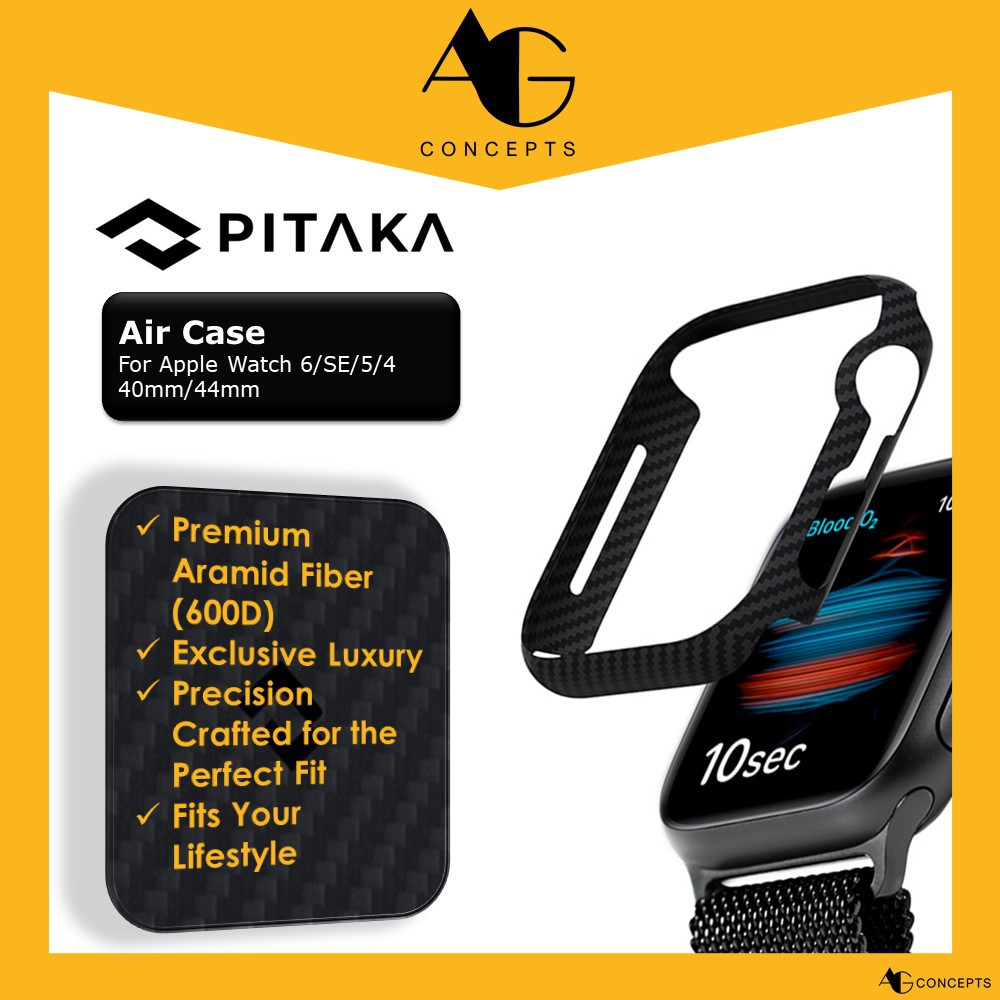 [AG Concepts] PITAKA Air Case for Apple Watch Series 6/SE/5/4-40mm/44mm Slim Genuine Aramid Fiber Exquisite Refined Mini