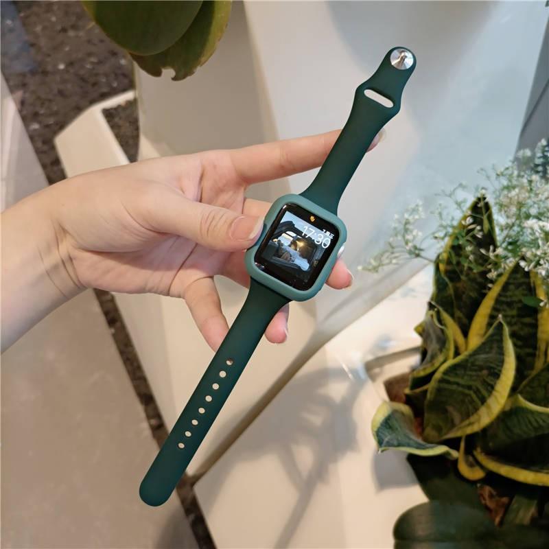 💥 สาย applewatch 🔥 เหมาะสำหรับสาย Applewatch ซิลิโคนเอวเล็กสายรัดข้อมือ Apple รุ่น iwatch2345 รุ่นหญิงสีขาวทั้งหมด