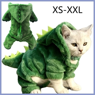 XS-XXL,✈Ready Stock✈Dinosaur Model Dog / Cat Clothes Warm Fleece Material for Winter