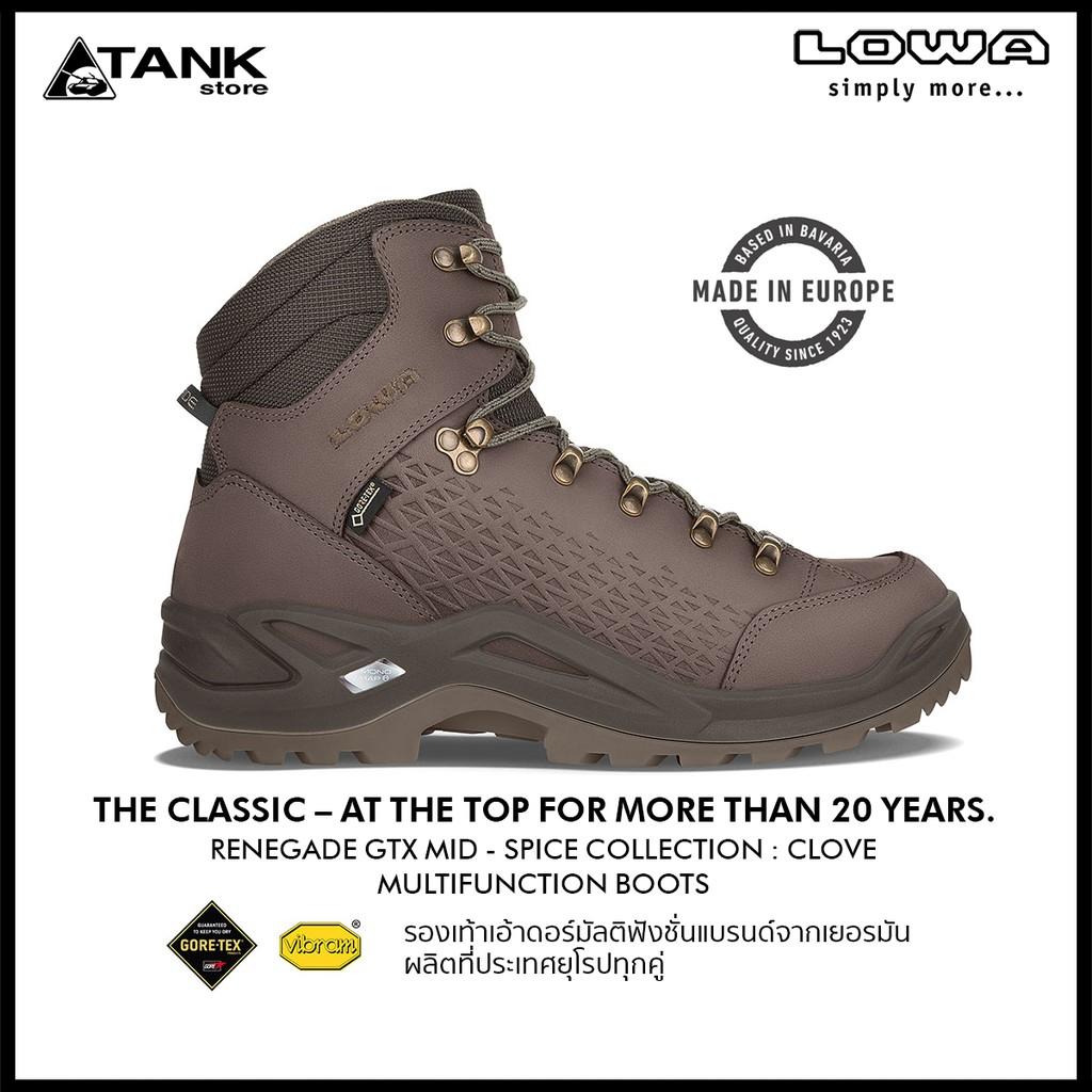 Lowa Renegade Gore-tex Mid Hinking Boot ข้อสูง 6 นิ้ว รองเท้าเอ้าดอร์มัลติฟังชั่น แบรนด์จากเยอรมัน ผลิตที่ยุโรปทุกคู่