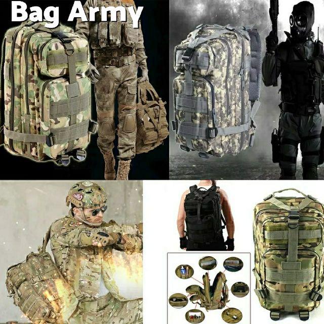 กระเป๋าทหารยุทธวิธีเป้กระเป๋าเป้สะพายหลัง กระเป๋าเดินทางเดินป่า 25L-30L ( งานผ้าหนา)