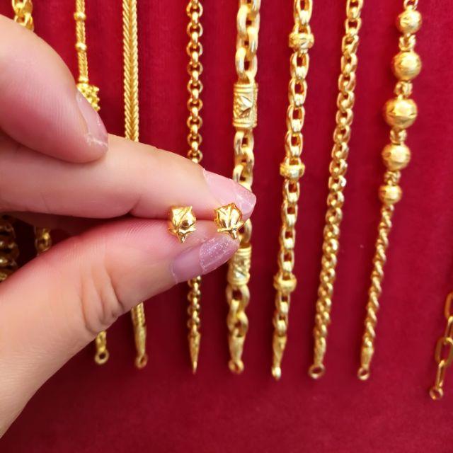 ต่างหูทองแท้ 96.5% น้ำหนักทอง 0.6กรัม ราคา 1,400 บาท