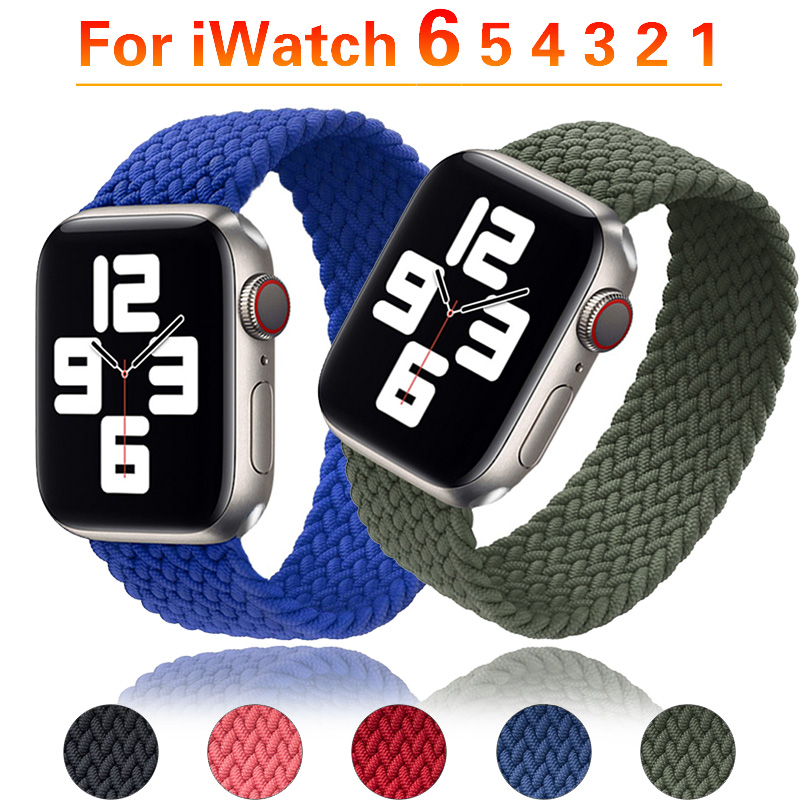 Braided Solo Loop Silicone Strap สำหรับ Apple Watch 6 Se Series Bands 40mm 44mm Watchbands Iwatch 5/4/3/2 38mm 42mm อุปกรณ์เสริม 2020 ใหม่ Apple Watch Case Applewatch Watch 5 Applewatch