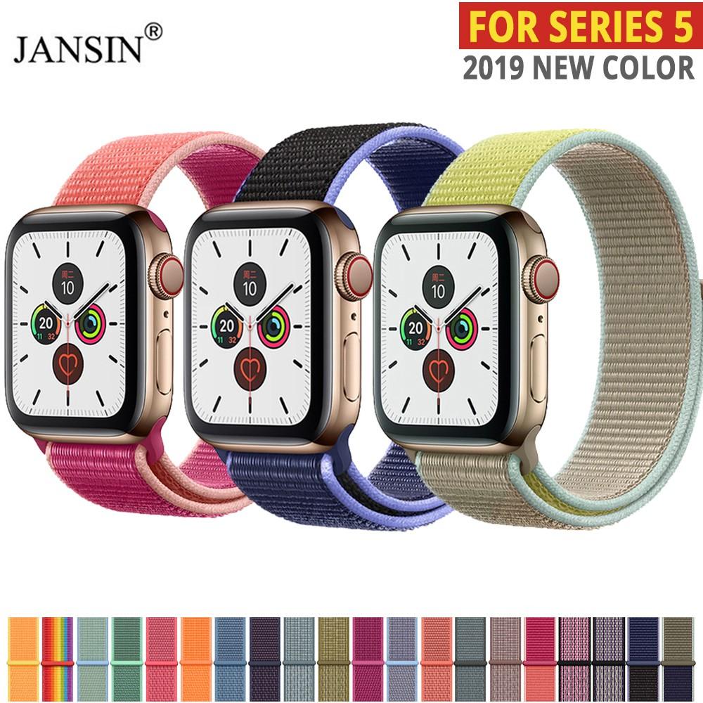 สายนาฬิกา สาย applewatch Apple Watch 5 Band Woven Nylon Loop for iwatch Series 5 4 3 2 1 40 มม. 44 มม 42 มม. 38 มม.