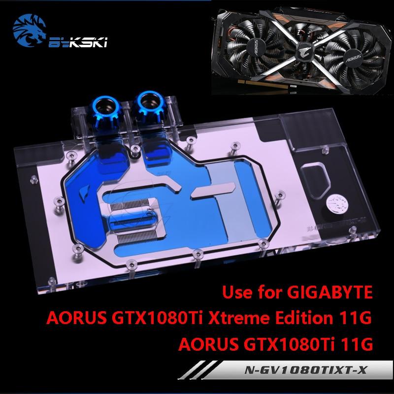 BYKSKI Water Block use for GIGABYTE AORUS GTX 1080Ti Xtreme Edition/GV-N108TAORUS-11GD/Full Cover Graphics Card Copper R