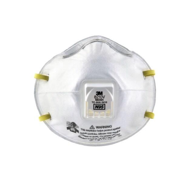 หน้ากากป้องกันฝุ่นชนิดมีวาล์ว 3M 8210V N95 (กล่อง10ชิ้น)