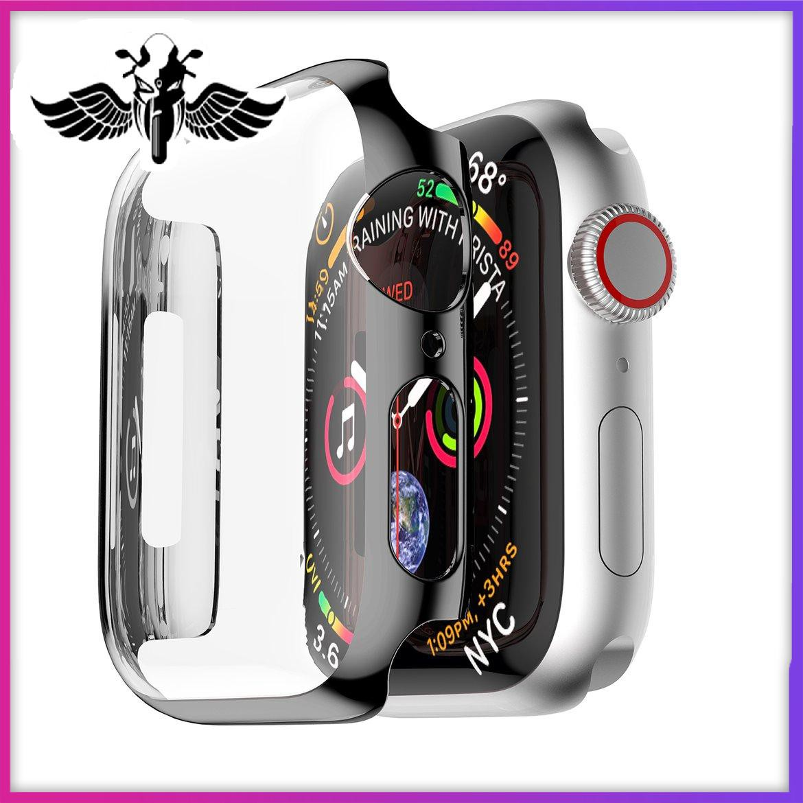 New PC plating Case Cover Housing Shell For Apple Watch Series 4 40/44mm lightup