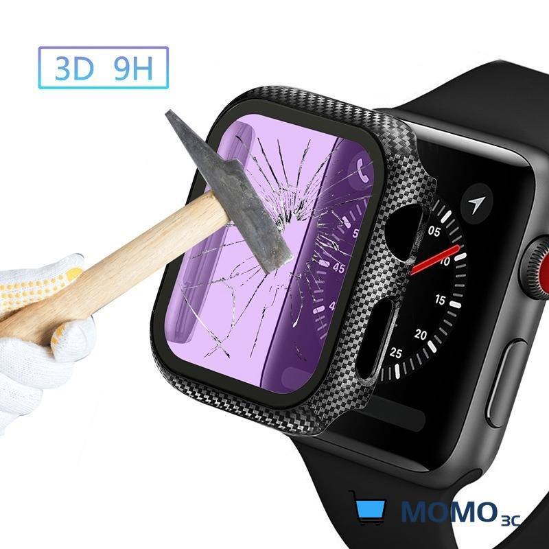 Glass+Cover For Apple watch Case iWatch 38mm 42MM Carbon fiber bumper+Screen Protector Apple Watch series 5 4 3 44mm 40MM
