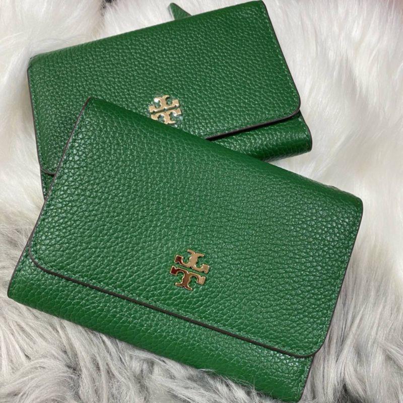 กระเป๋าสตางค์ Tory Burch สีเขียว แท้