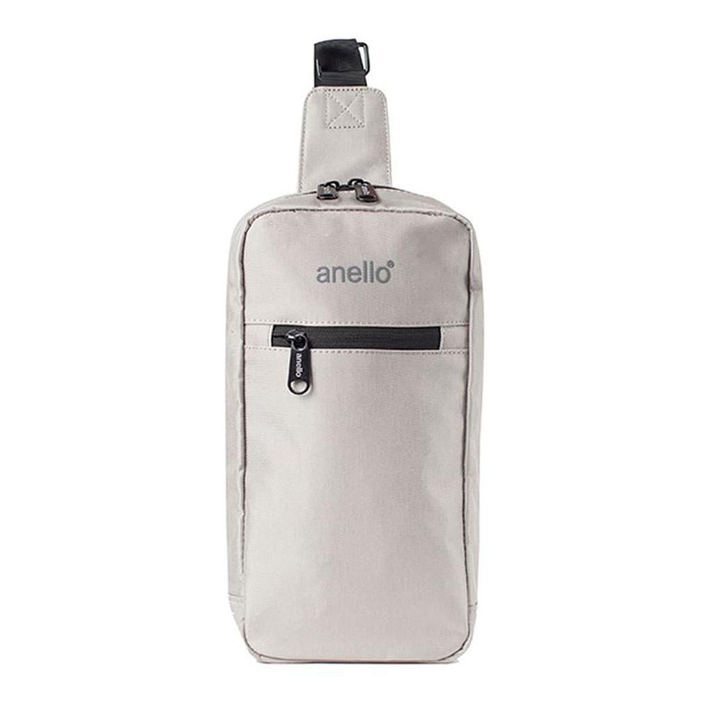กระเป๋าคาดอก Koten Denim Crossbody OS-N032 สีเทาอ่อน กระเป๋า ผู้หญิง กระเป๋าสะพายข้าง คาดเอว/คาดอกผ้าเดนิม anello® รุ