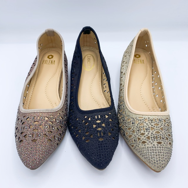 Zanotti/palena รองเท้าคัชชูผู้หญิงไซส์ใหญ่ 41-43 สีดำ/ทอง/ชมพู สินค้าพร้อมส่ง!