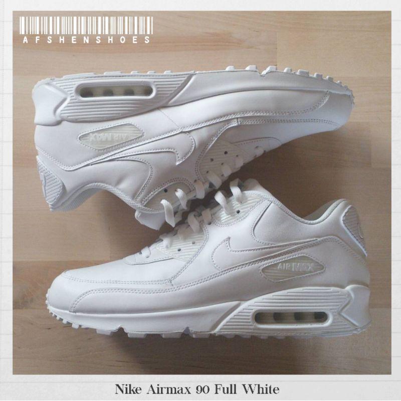 Original Nike Airmax 90 รองเท้าผ้าใบลําลองสีขาวแบบเต็ม