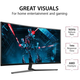 """VIEWSONIC VX3258-PC-MHD 32"""" 1080p Curved 165Hz 1ms Gaming Monitor (Warranty 3Y) ฿7,790"""