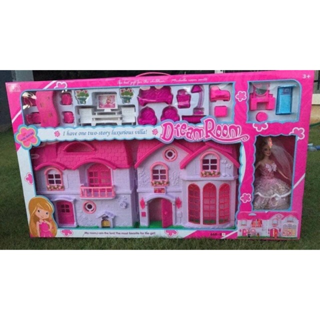 บ้านตุ๊กตาบาร์บี้หลังใหญ่ พร้อมตุ๊กตาบาร์บี้