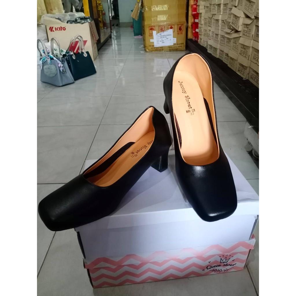 รองเท้าคัชชู/รองเท้าคัชชูผู้หญิง/รองเท้าคัชชูดำ/รองเท้าคัชชูงานเกาหลี/รองเท้าใส่นิ่มใส่สบายไม่กัดเท้าใส่แล้วดูดี