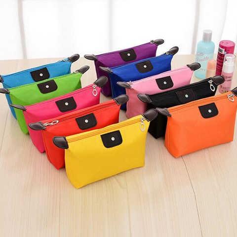 ﹊❈✎ถุงเก็บเครื่องสำอางค์ขนมจีบรุ่นเกาหลี, กระเป๋าใส่แป้งแบบพกพา, กระเป๋าเดินทางใบเล็ก, กระเป๋าเครื่องสำอางกันน้ำ