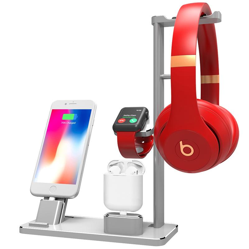 สายชาร์จ ใช้ได้ครับApple watch/AirPodsแอปเปิ้ลหูฟังโทรศัพท์ข้าวสาลีนาฬิกาชาร์จiphoneที่ยึดฐานอลูมิเนียมiwatch 87Ze