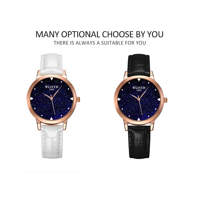 WLISTHนาฬิกาข้อมือผู้หญิง นาฬิกาแฟชั่น สายนาฬิกาหนังแท้ นาฬิกากันน้ำ โต๊ะสแตนเลส นาฬิกาผู้หญิง สร้อยข้อมือเกาหลี (Casio