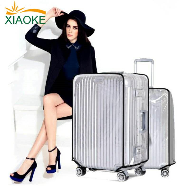 ☔ผ้าคลุมกระเป๋าเดินทางพลาสติกใส กระเป๋าเดินทางปกป้องกระเป๋า ทนฝุ่นกระเป๋า PVCทนรอยขีดข่วน
