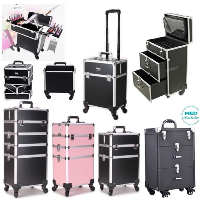 พร้อมส่ง🚚กระเป๋าช่างแต่งหน้าล้อลาก กระเป๋าเครื่องสำอางมีล้อ กระเป๋าเดินทางจุเยอะ กระเป๋าช่างสัก
