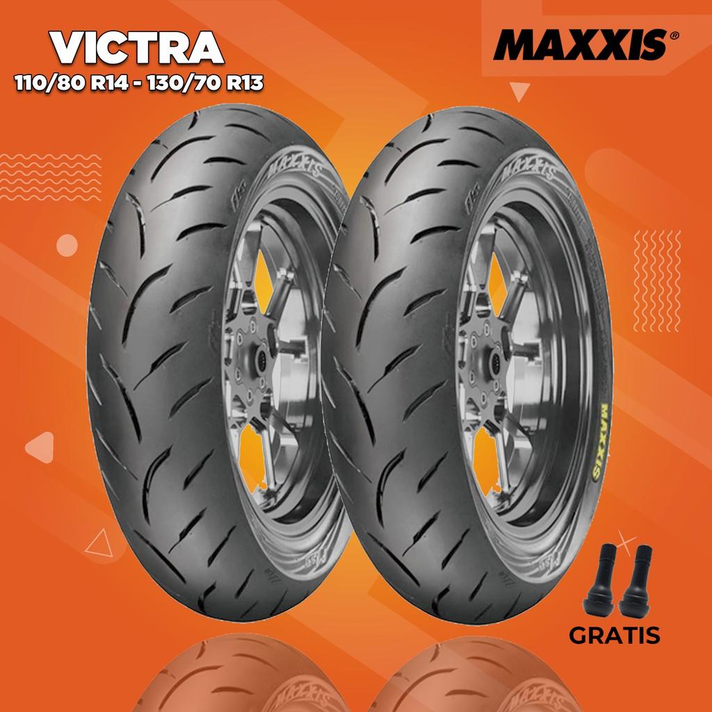 ยางรถจักรยานยนต์สําหรับ Honda Adv / Max / Maxxis Victra 110 / 80 Ring 14-130 / 70 Ring 13
