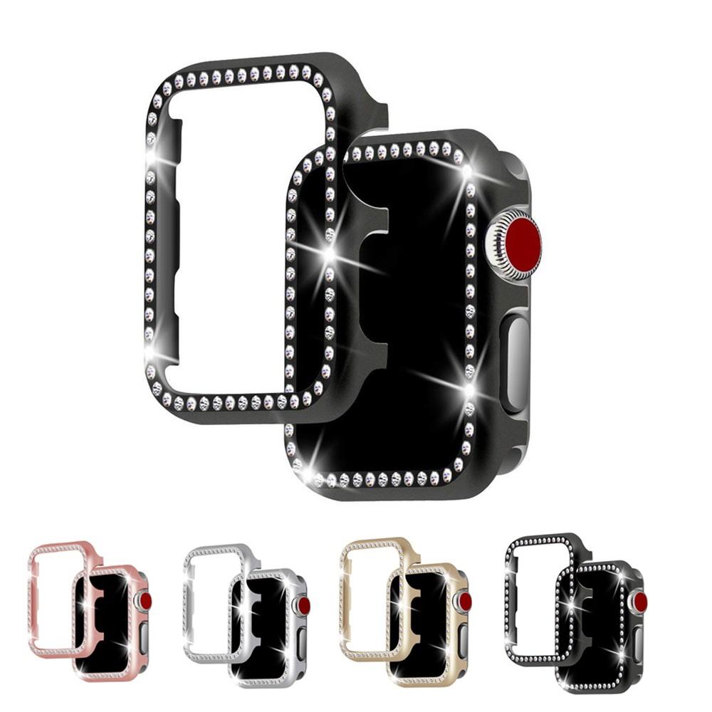 for Apple Watch band เคสโลหะเพชรสำหรับ for Apple watch 38 มม. 42 มม. 44 มม. 40 มม. Series 6 se 5 4 3 2 1 สําหรับ T500 นาฬิกาอัฉริยะสาย 44 มม.