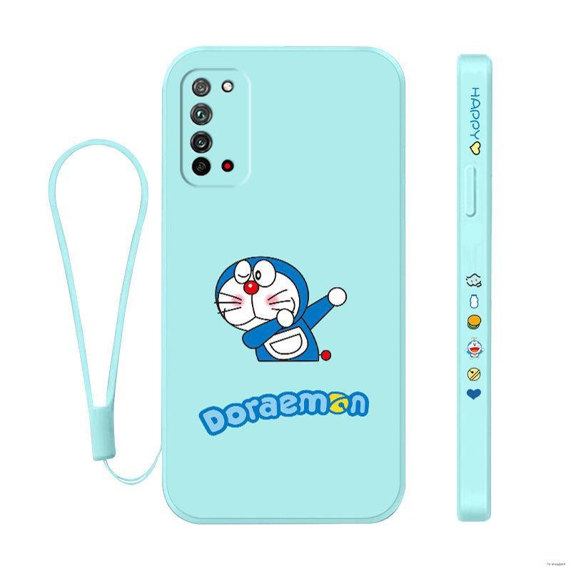 ยางยืดออกกําลังกาย▤❃(มือถือ ฟิล์มนิรภัย)  Honor X10 เคสโทรศัพท์มือถือซิลิโคนเหลว Huawei 9X Side Pattern Pro Cartoon 10M