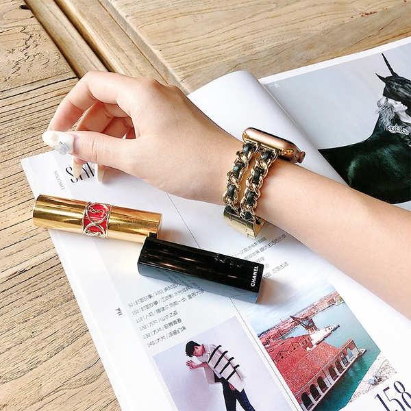 สาย applewatch สายรัด applewatch ที่ใช้งานได้สายโซ่โลหะกลิ่นหอมขนาดเล็กสายนาฬิกา Apple iwatch5432 รุ่นน้ำทั่วไป