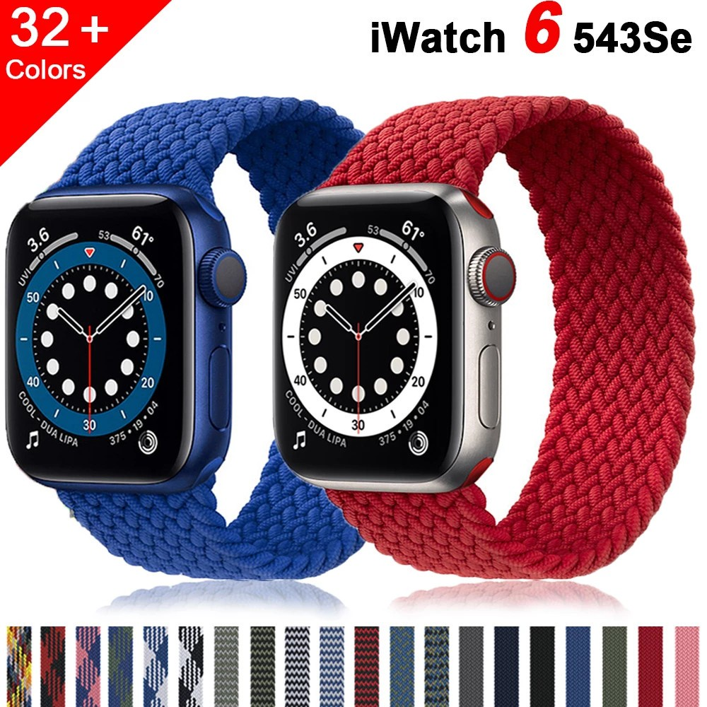 【พร้อมส่ง】สายนาฬิกาข้อมือสายถักสําหรับ Applewatch Series 6 5 4 3 Series 44 มม. 40 มม.