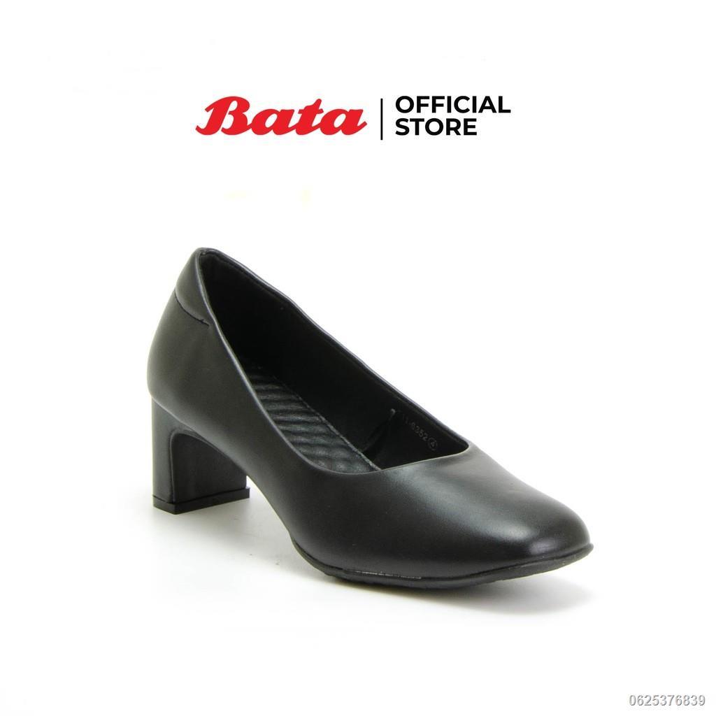 【สินค้าเฉพาะจุด】▪❡Bata รองเท้าผู้หญิงคัชชู LADIESHEELS PUMP NEO-TRAD สีดำ รหัส 6116352