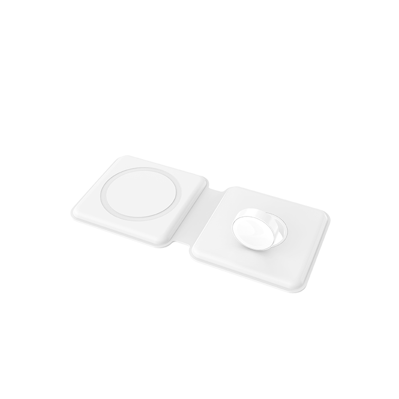 บังคับ iphone12 Apple MagSafe เครื่องชาร์จไร้สายแม่เหล็กคู่15W ดูโทรศัพท์มือถือสองในหนึ่ง applewatch/12Promax/12MINI อุป