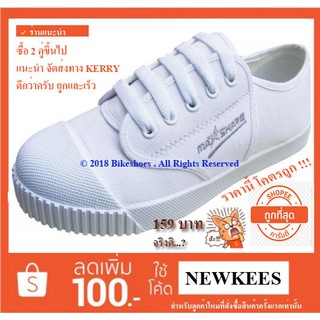 MASHARE รองเท้าผ้าใบนักเรียน ยี่ห้อมาแชร์ รุ่น M205 สีขาว
