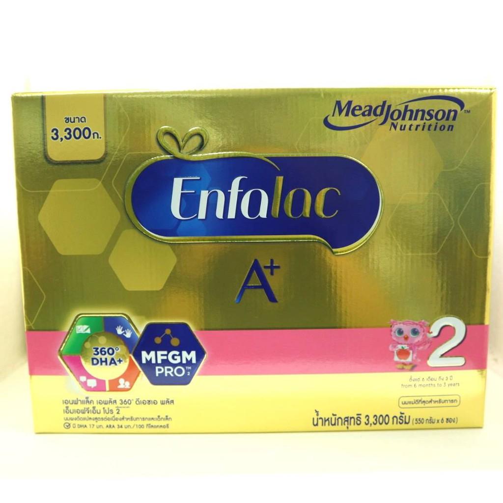 EnfalacA+ เอนฟาแล็คเอพลัส สูตร 2 ขนาด 3300 กรัม ( 1 กล่อง )