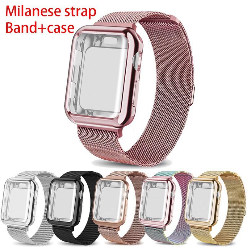 สาย applewatch สายนาฬิกา applewatch สาย apple watch milanese loop band 38มม 42มม 40มม 44มม iWatch Series 5 4 3 2 1 case