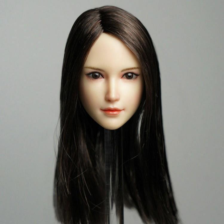 "1//6 Women Figure Head Sculpt Female for 12/"" Hot Toys//Phicen//Kumik Body Toy D"