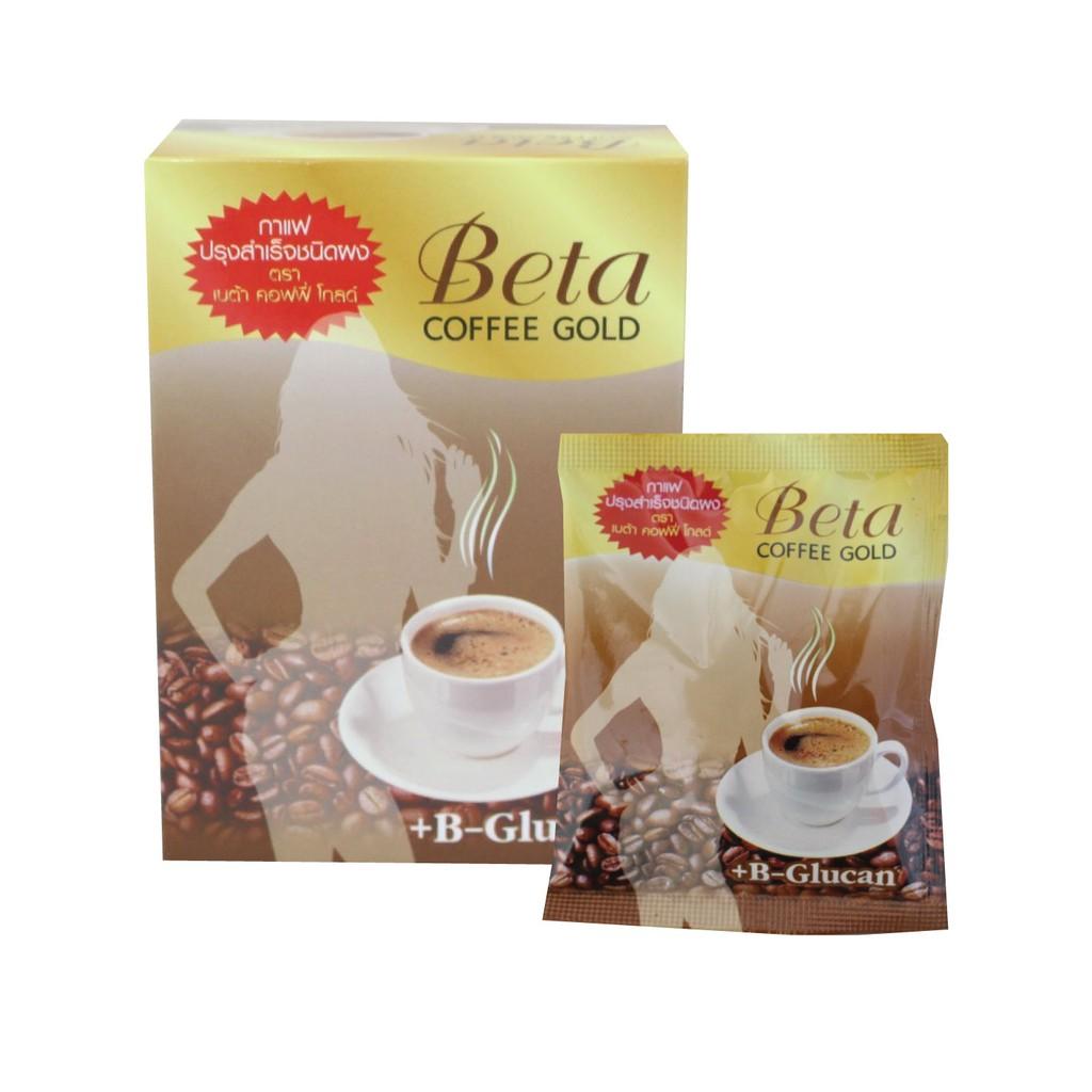 กาแฟลดน้ำหนัก  เพื่อสุขภาพ Beta Coffee Gold  3 in 1  มีส่วนผสมของ +B-Glucan ดื่มพร้อมสวย (10 ซอง/กล่อง)