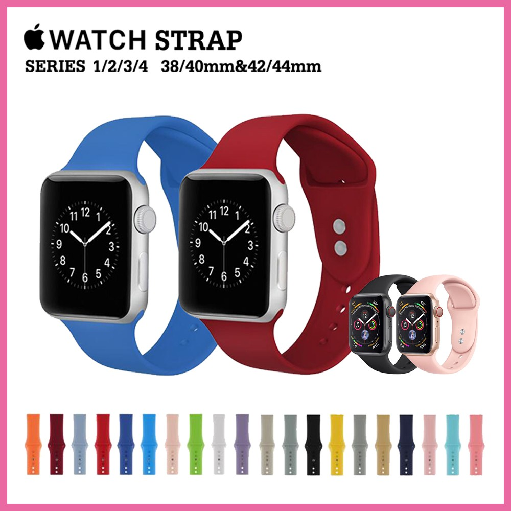 สาย applewatch สายซิลิโคนสำหรับ Apple Watch Band Series 4 3 2 1 ขนาด 38/40mm 42/44mm