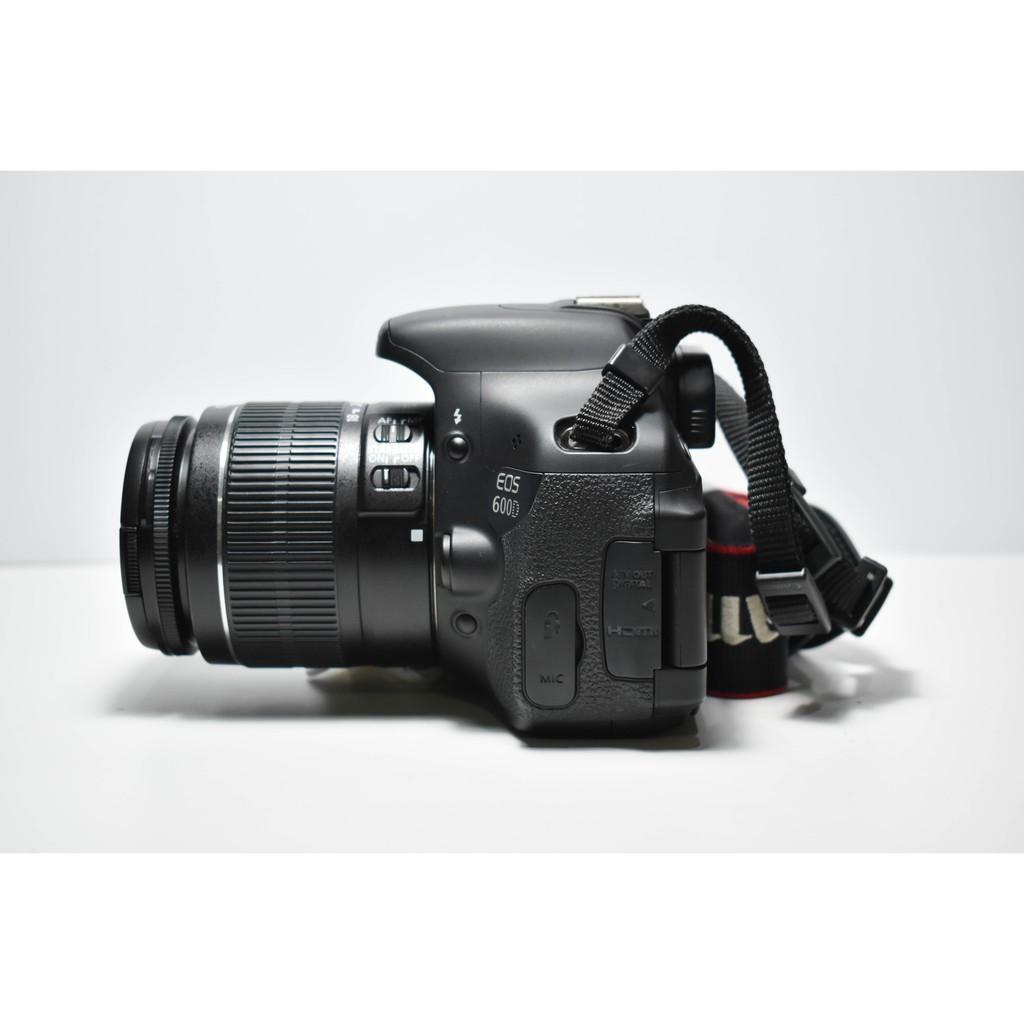 ราคาดีที่สุด กล้อง Canon 600D+lens 18-55 is ii สภาพนางฟ้า อ
