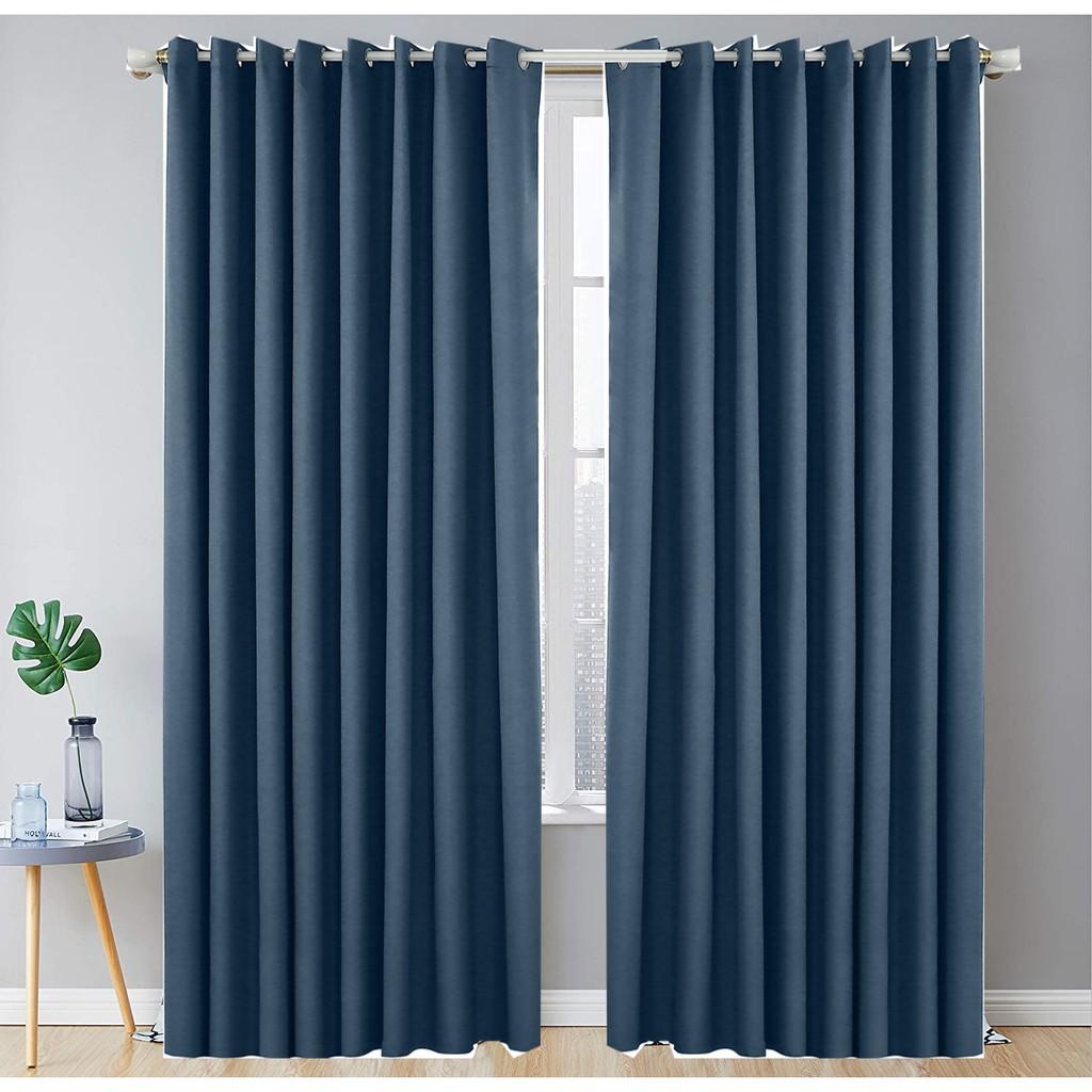 ผ้าม่านสำเร็จรูปกันแสงกันUV แบบตาไก่เจาะห่วง หน้าต่าง ประตู สีเทาเข้ม สีครีม สีน้ำตาล ขนาด130*150,130*220,ติดได้เอง ต่อ1