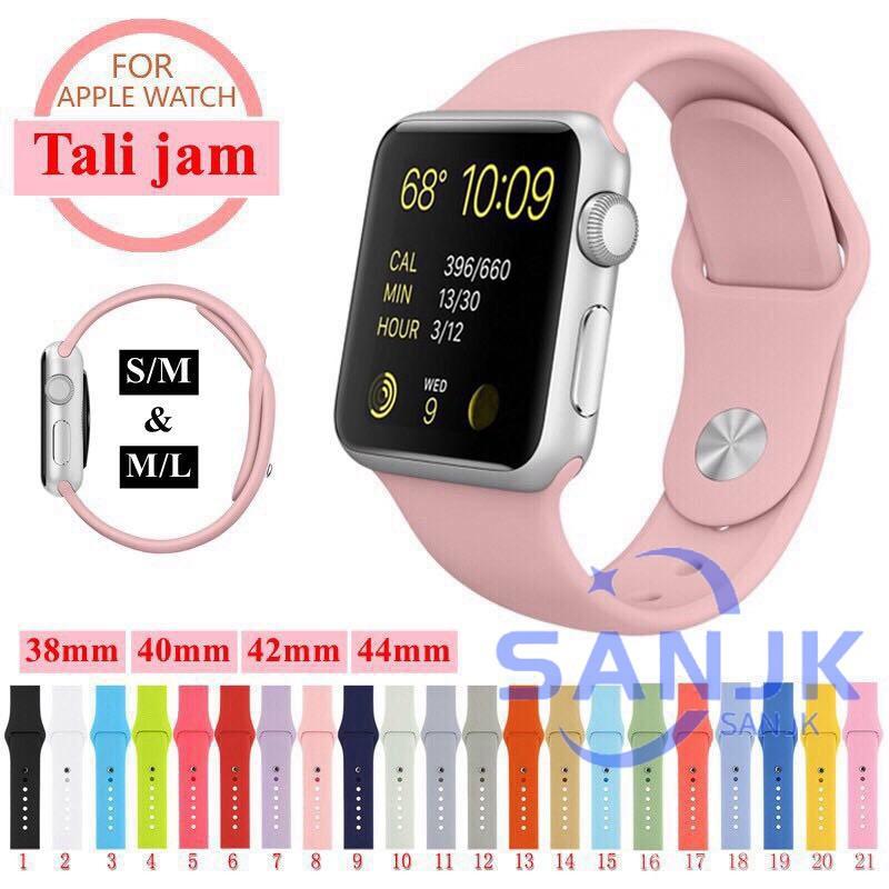 สาย applewatch สายนาฬิกา applewatch ✅ััพร้อมส่ง✅ัั สายสำหรับ Apple Watch SE Series 6/5/4/3/2/1/SE ขนาด สีพื้นลิ้ง 38/40/