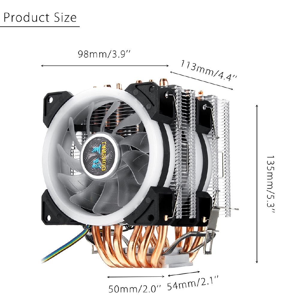 Universal 90mm 4Pins PWM Aluminum Extrusion CPU Cooling Fan Cooler