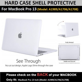 """With Touch Bar 4 IN 1 See-Through Crystal Case+Soft Bag F Macbook Pro 13/""""A1706"""