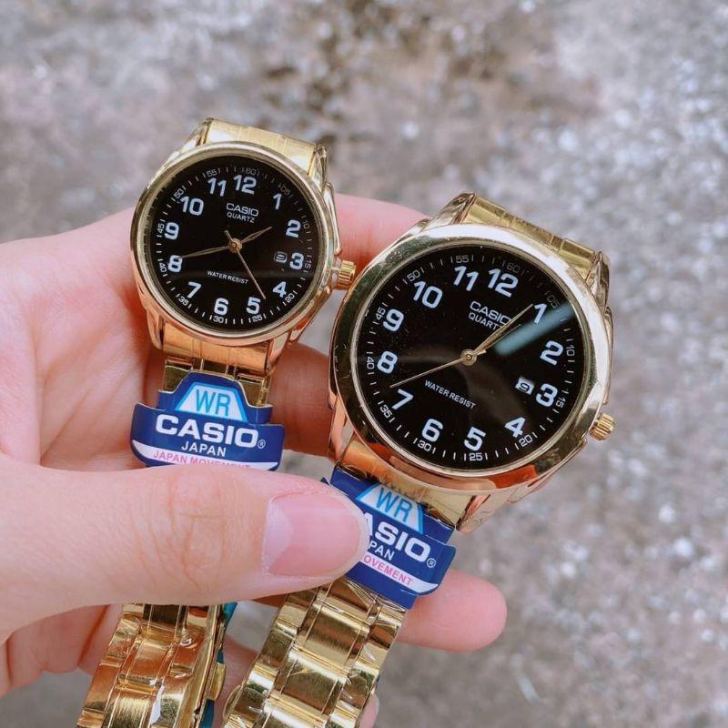 Casio นาฬิกาข้อมือชายหญิงสุดหรู หน้าปัดใหญ่ สายสแตนเลส รับประกัน 1ปี