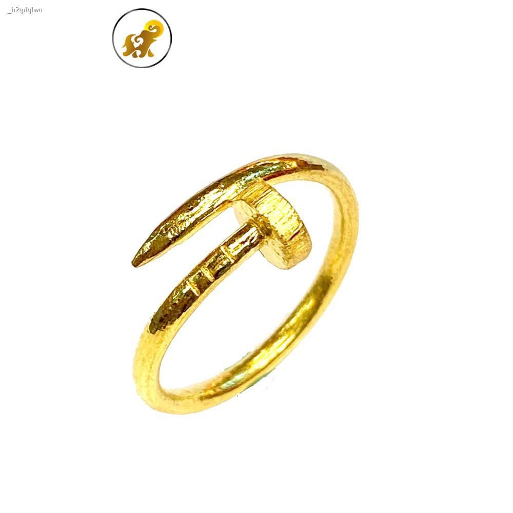 ราคาต่ำสุด✥✜PGOLD แหวนทองครึ่งสลึง ตะปูทอง หนัก 1.9 กรัม ทองคำแท้ 96.5% มีใบรับประกัน